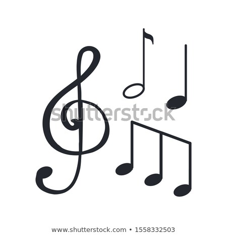 Music Notes, Sketches Icons Closeup Melody Design Stock photo © robuart