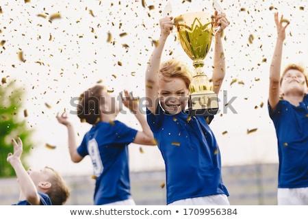 nino · dorado · fútbol · fútbol · taza - foto stock © matimix