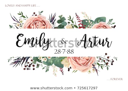 lavender card watercolor vector flowers bouquet background spring delicate banner wedding invitat stock photo © frimufilms