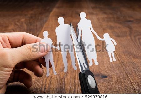 Ayırma aile anlamaya yargıç tokmak Stok fotoğraf © AndreyPopov