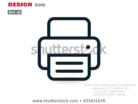 Fax icon Stock photo © angelp