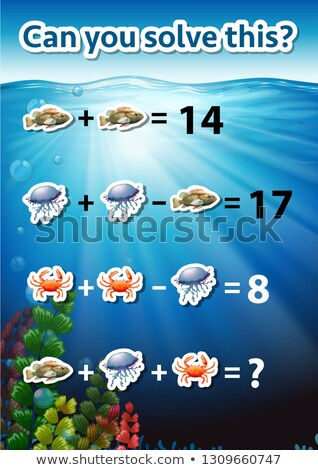 Can you solve this math worksheet Stock photo © bluering