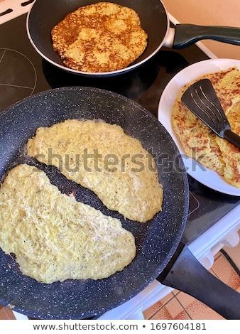 Aardappel pannenkoeken home eenvoudige goedkoop voedsel Stockfoto © Peteer