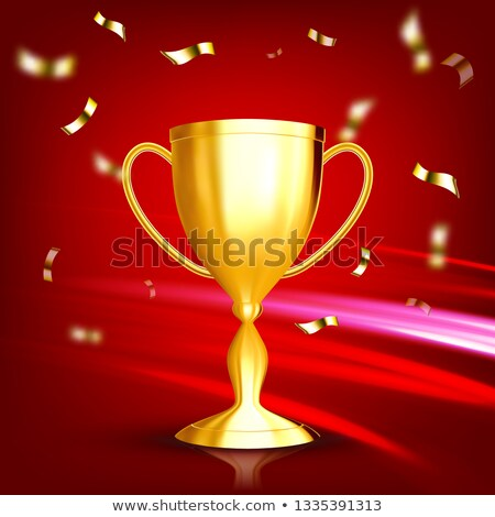 award golden cup vector game medal celebration ceremony competition symbol gilded metal object stock photo © pikepicture