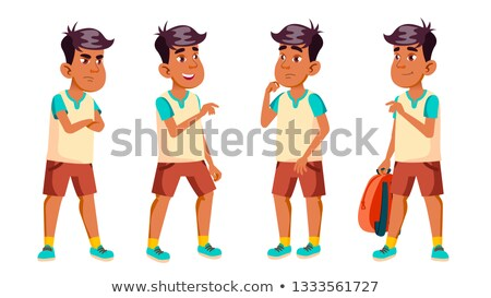 Arabes musulmans garçon écolier Kid Photo stock © pikepicture