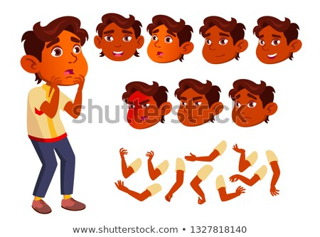 Indian jongen kind kid teen vector Stockfoto © pikepicture