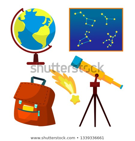 Astronomy Icon Vector. Telescope, Starry Sky, Falling Star, Constellations, Universe. Isolated Flat  Stock photo © pikepicture