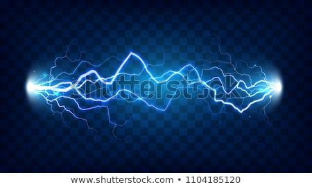 Plasma Light Vector. Electric Power. Energy Effect. Blue Spark Bolt. Realistic Isolated Transparent  Stock photo © pikepicture