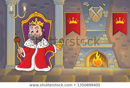 Rey trono imagen arte habitación vela Foto stock © clairev