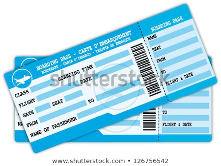 Two airplane tickets icon Stock photo © angelp