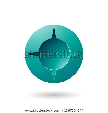 Persian Green and Bold Shaded Round Icon Vector Illustration Stock photo © cidepix
