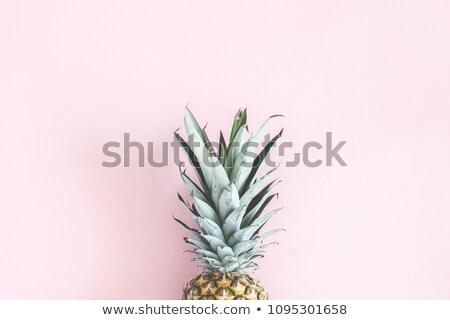 Ananász rózsaszín egész érett üres hely felső Stock fotó © nito