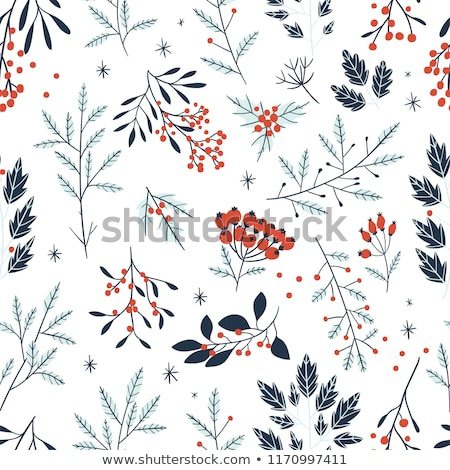 Paper template with mistletoes for christmas Stock photo © colematt