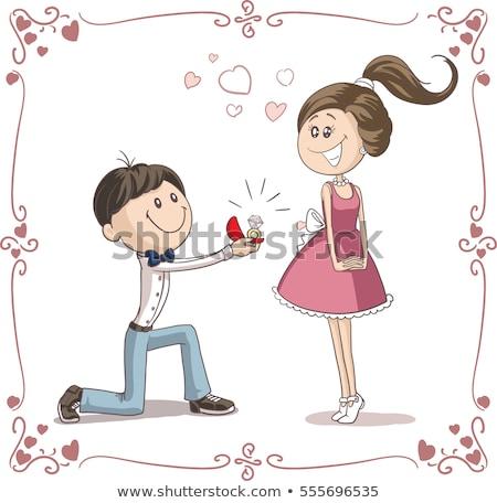 Валентин мальчика предложение брак женщину вектора Сток-фото © robuart