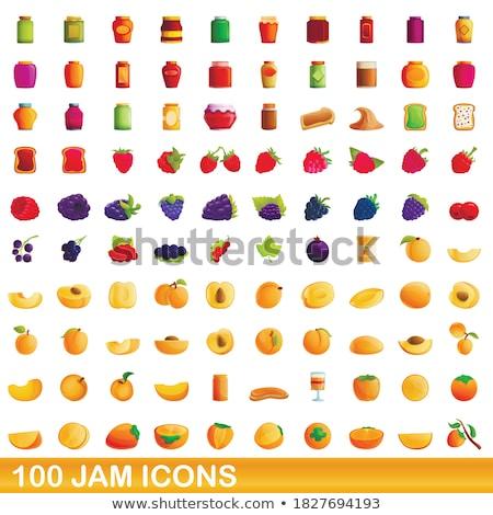 Friss bogyók ikon szett étel appok weboldalak Stock fotó © nosik