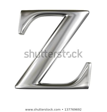 Rusty metal font Letter Z 3D Stock photo © djmilic