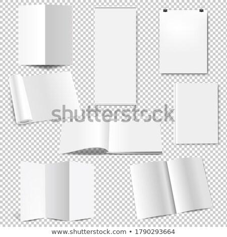 rollen · omhoog · display · vector · verticaal · poster - stockfoto © barbaliss