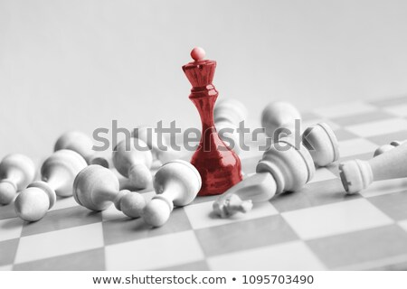 Wooden chess queen over white background Stock photo © bdspn
