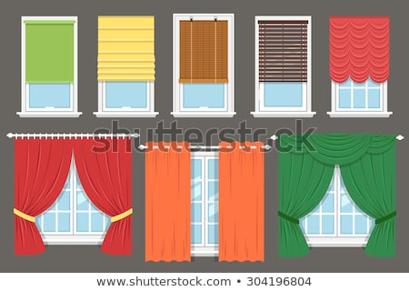 Stock photo: Different curtains and blinds for interior design