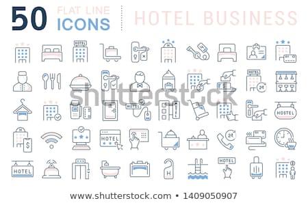 Hotel service icons set Stock photo © netkov1
