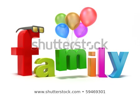 3D illustration of the word Family  Stock photo © Spectral