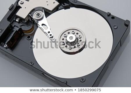disassembled hard drive gray background Stock photo © romvo