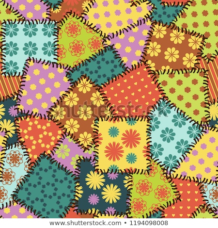 colored sewing pattern stock photo © netkov1