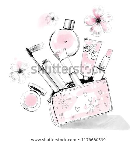 セット トレンディー 女の子 ベクトル エレガントな 定型化された ストックフォト © netkov1