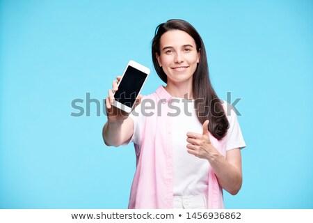 счастливым молодые потребитель рекламный объявление Сток-фото © pressmaster