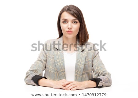 Pretty young applicant or employee in formalwear Stock photo © pressmaster