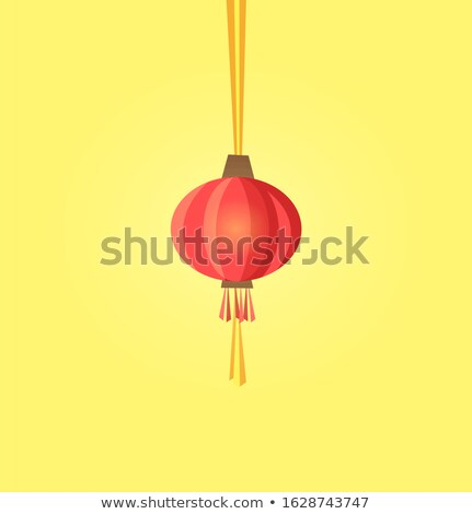 Lantaarn papier chinese item icon Stockfoto © robuart