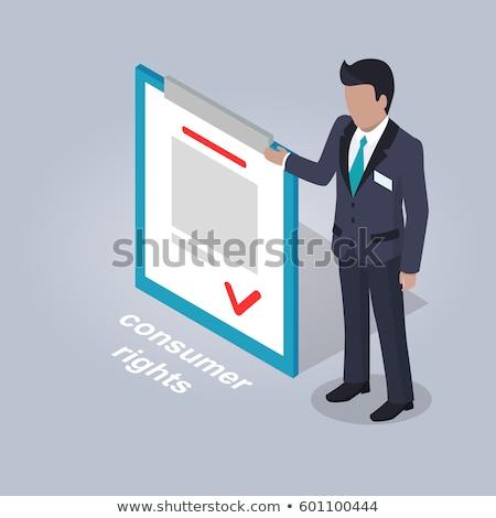 Fogyasztó jogok üzletember illusztráció pontok irat Stock fotó © robuart