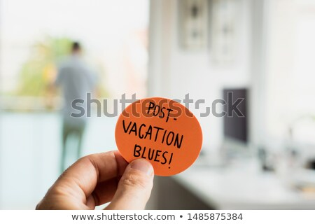 man at office and text post vacation blues stock photo © nito
