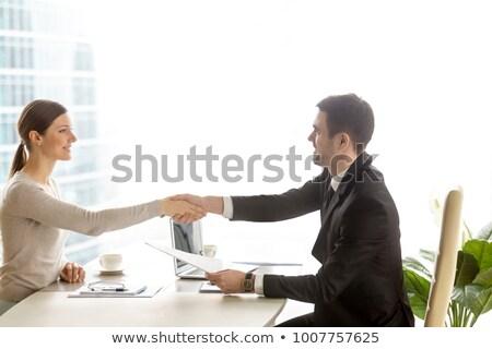 Empresario femenino solicitante maduro lugar de trabajo oficina Foto stock © AndreyPopov