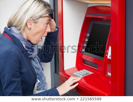 Vrouw naar bank rekening evenwicht Stockfoto © AndreyPopov