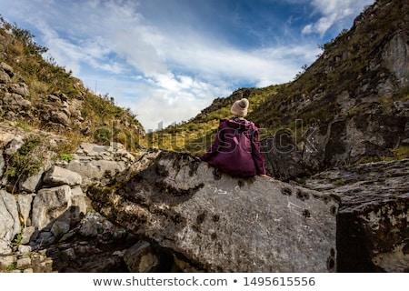 ősi tenger védtelen kő padló kövek Stock fotó © lovleah