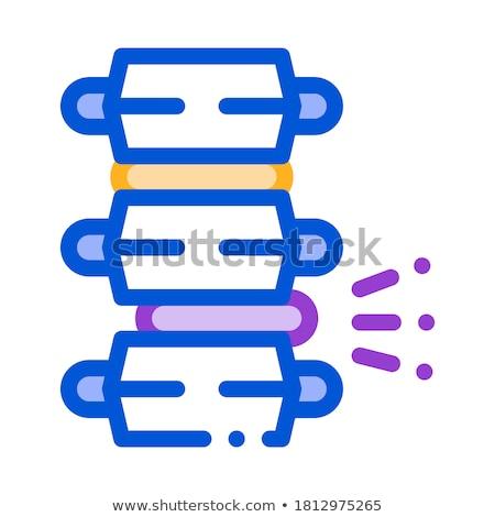 problem pain spinal column circular disc vector stock photo © pikepicture