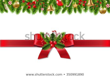 Vector Christmas Fir Tree with Lollipops Stock photo © dashadima
