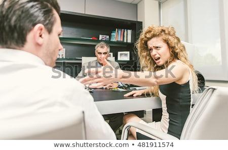 Paar vechten advocaat kantoor ongelukkig echtpaar Stockfoto © AndreyPopov