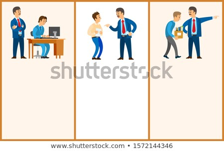 Worker Control, Bad Job and Dismissal. Boss Leader Stock photo © robuart