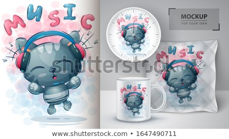 Cute miner poster and merchandising Stock photo © rwgusev
