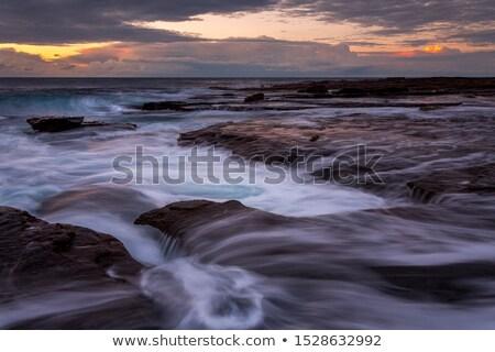 Kust zonsopgang rand kustlijn regio Stockfoto © lovleah