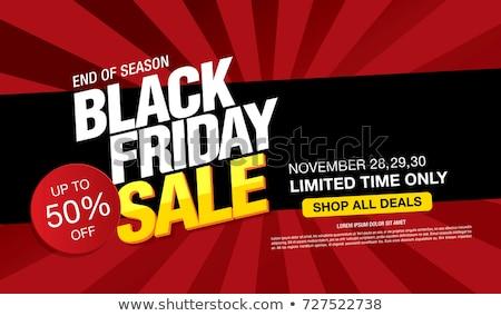 Black friday szezonális vásár szalag terv design sablon Stock fotó © sgursozlu