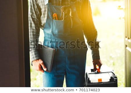 Casa manutenção água aquecedor substituição parede Foto stock © jsnover