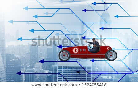 Businessman driving sports car choosing different career paths Stock photo © Elnur