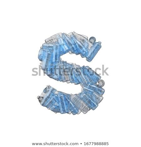 Letter S made of plastic waste bottles Stock photo © lightkeeper