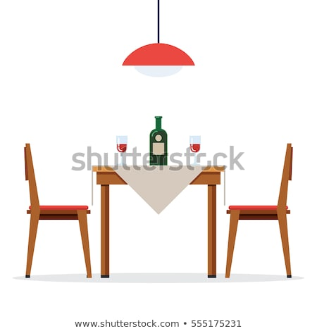 Cafe Furniture Chair and Table, Restaurant Vector Stock photo © robuart