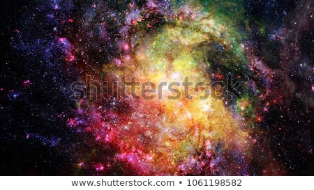 Abstrato brilhante colorido universo nebulosa noite Foto stock © NASA_images