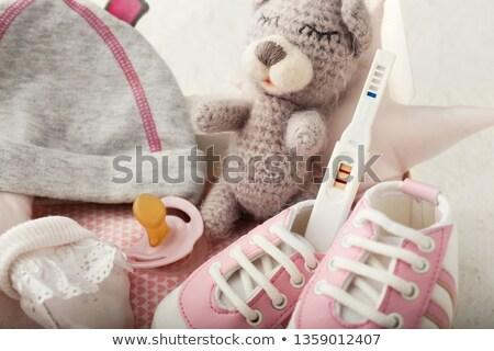 Fopspeen zwangerschaptest vak illustratie kind Stockfoto © adrenalina