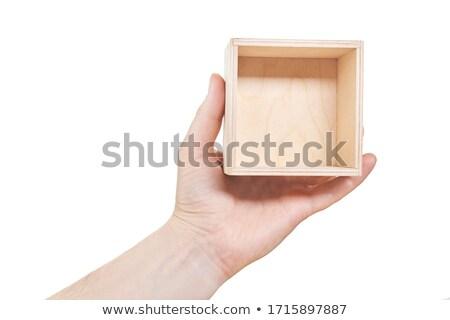 Homem mãos bambu quadro isolado Foto stock © nomadsoul1
